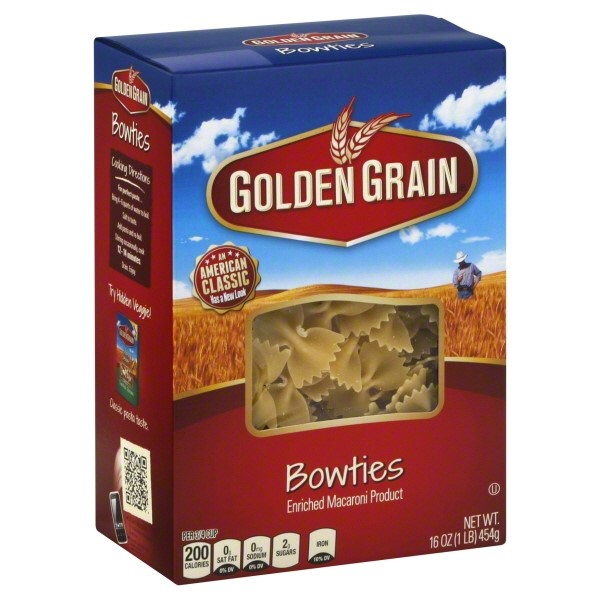 Golden Grain Bow Ties, 16 Oz