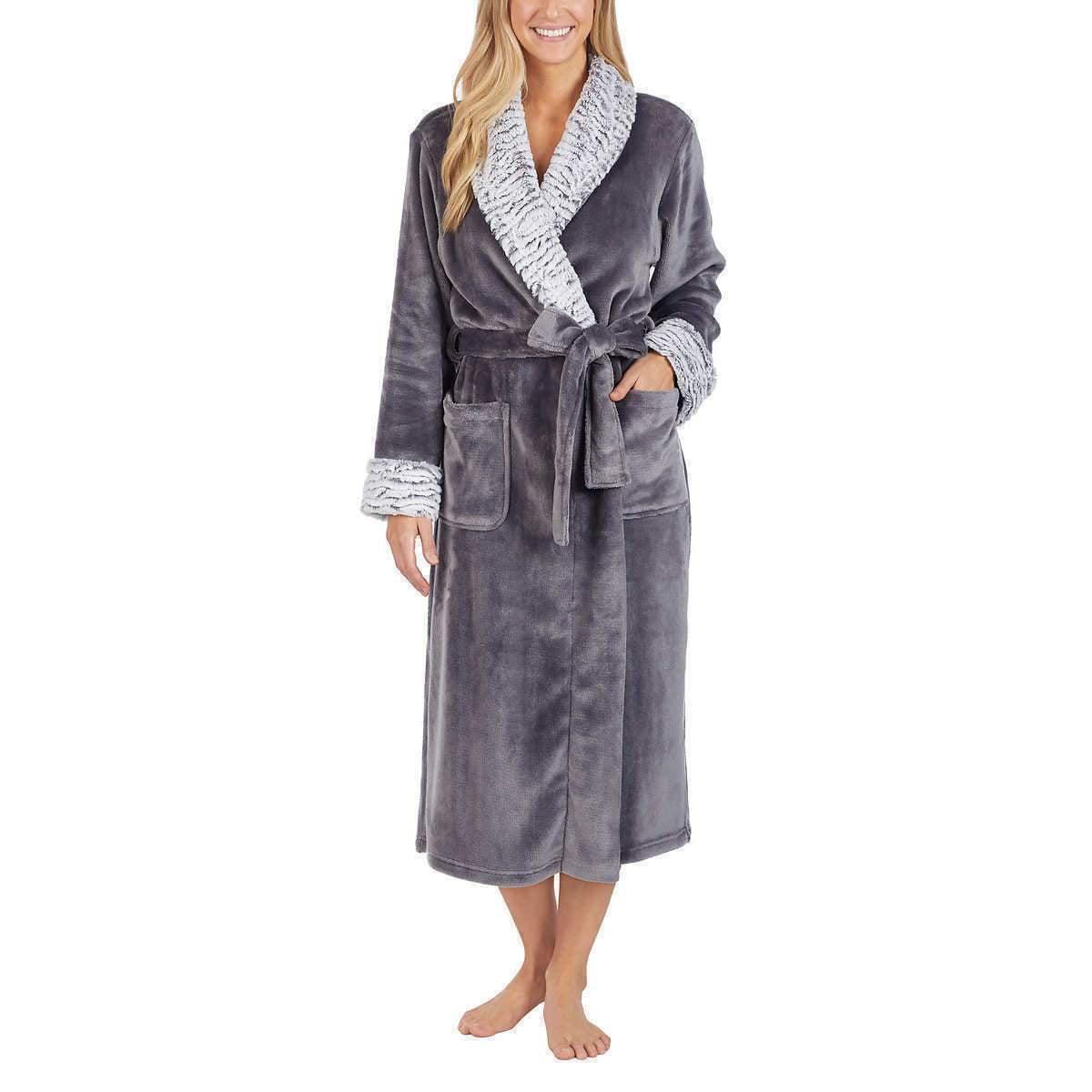 NWD Carole Hochman Ladies/' Plush Wrap Robe Color Ivory Size 2XL XXL