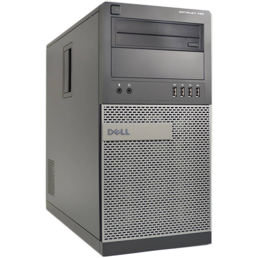 Refurbished Dell OptiPlex 790-T Desktop PC with Intel Core i5-2400 Processor, 4GB Memory, 250GB Hard Drive and Windows 10 Pro (Monitor Not Included)