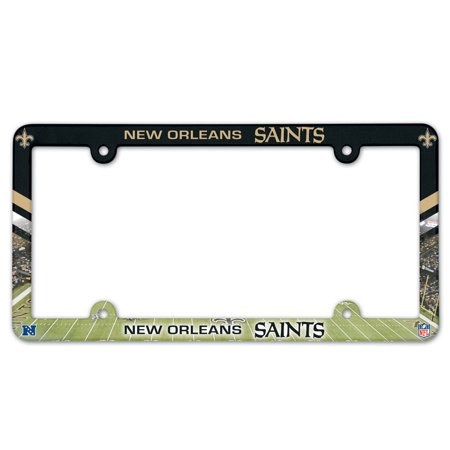 - New Orleans Saints Official NFL 12 inch x 6 inch Plastic License Plate Frame by Wincraft