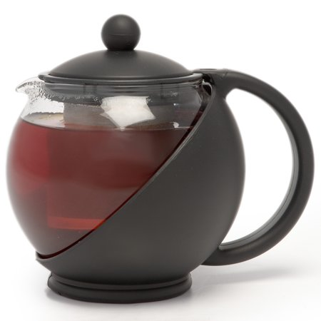 Black Glass Tea Pots - La Cafetiere Helsinki Black 4 Cup Glass Coffee/Teapot