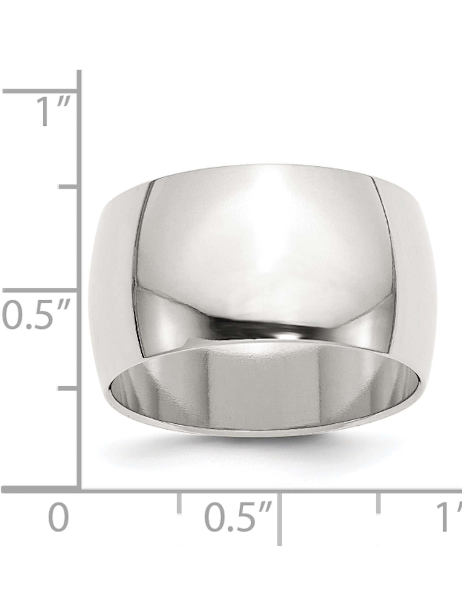 Wedding Bands Classic Bands Flat Bands SS 12mm Flat Size 10 Band Size 6.5