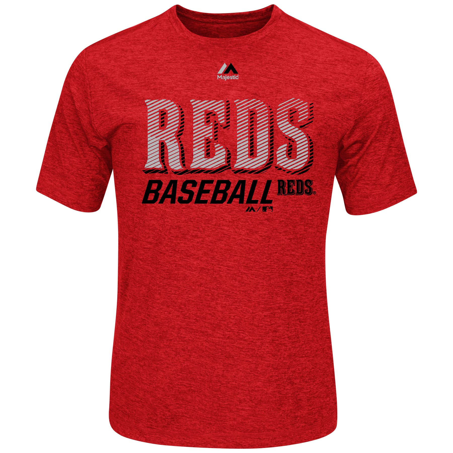Men's Majestic Red Cincinnati Reds Out of Reach Cool Base T-Shirt by MAJESTIC LSG