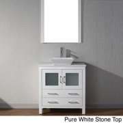 VIRTU USA  Dior 36 inch Single Sink Vanity Set in White