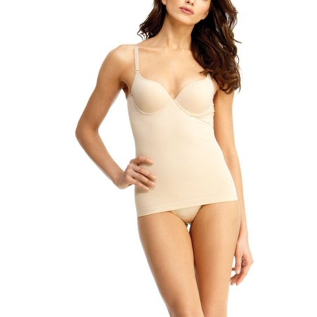 2b93a5cb99cc4 SlimMe Complice Shaping Camisole with Padded Underwire Bra - Shaper by MeMoi  Large   Nude Shapewear - Walmart.com