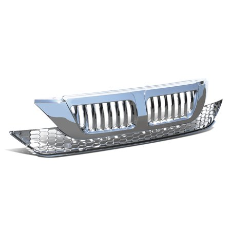 For 2007 to 2009 Honda CRV ABS Plastic Vertical Fence Front Bumper Grille (Chrome) (2006 Honda Crv Front Bumper)