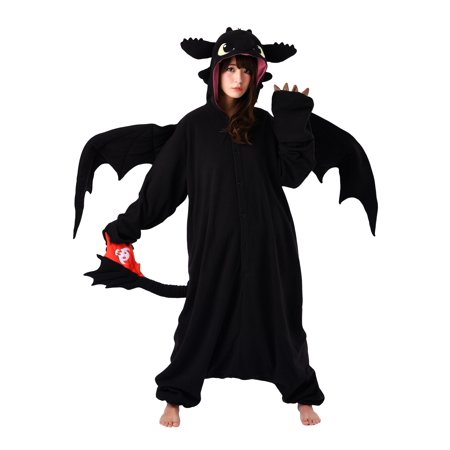 How to Train Your Dragon Toothless Kigurumi for Adults - Black Cat Kigurumi