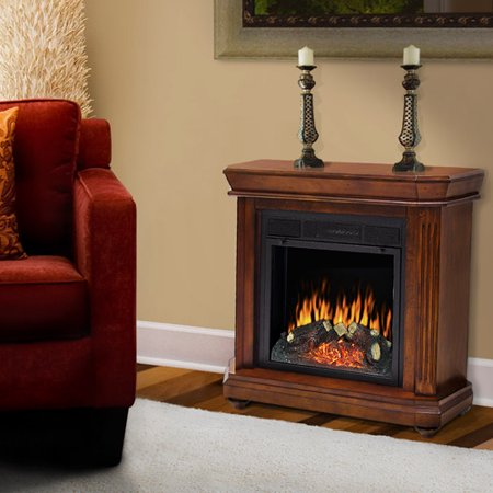 pleasant hearth somerset electric fireplace 18 firebox