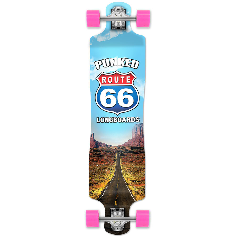 Yocaher Lowrider Longboard Complete - Route 66 Series - The Run