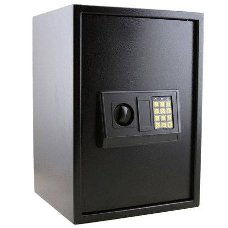 Electronic Safe Box Keypad Lockbox Home Office Security Black (Electronic Laptop Safe)