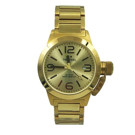 TW Steel Canteen Champagne Arabic Dial Gold Plated Quartz Mens Watch (Champagne Arabic Dial)