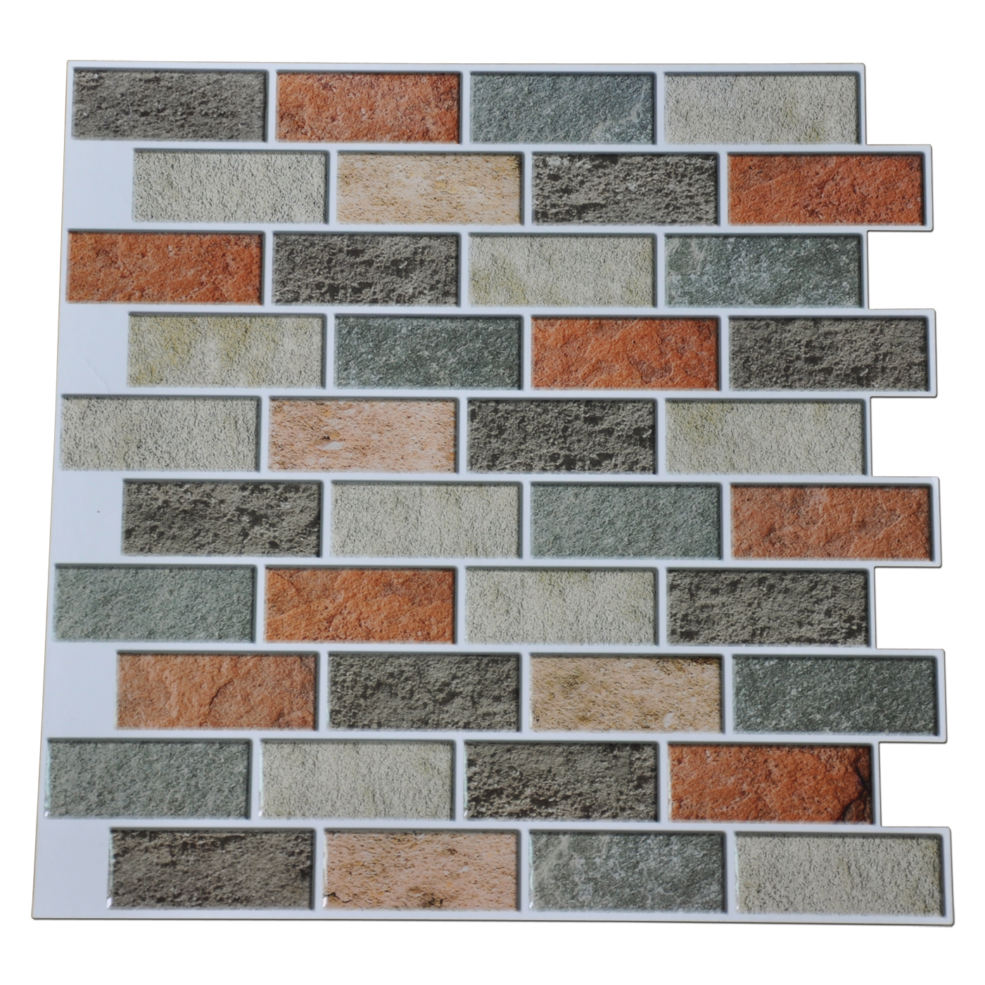 Art3d Peel And Stick Kitchen Backsplash Self Adhesive Subway Tile 12 X12 Faux Stone Mosaic 10 Pack Walmart Com Walmart Com