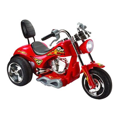 Mini Motos Red Hawk Motorcycle Battery Powered Riding Toy Red by Big Toy USA