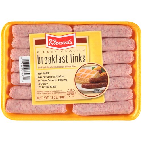 Klement's Breakfast Sausage Links, 14 count, 12 oz