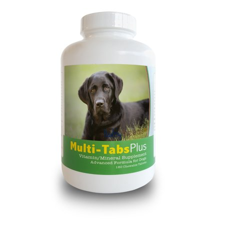 Healthy Breeds Dog Multi-Tab Vitamin and Mineral Supplement for Labrador Retriever, 180 Chews