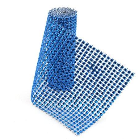 Rhinestone Mesh Wrap Roll, 4-3/4-Inch, 1-Yard, Royal - Royal Blue Mesh