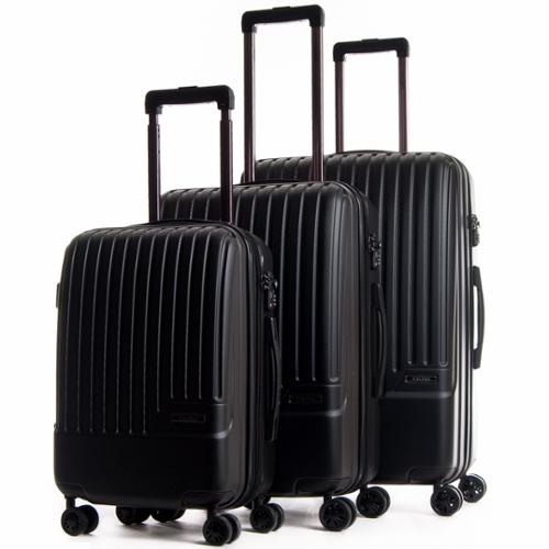 CalPak Davis Expandable 3-Piece Hardside Spinner Luggage Set Gray
