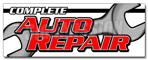 "36"" COMPLETE AUTO REPAIR DECAL sticker car mechanic transmission tires by SignMission"
