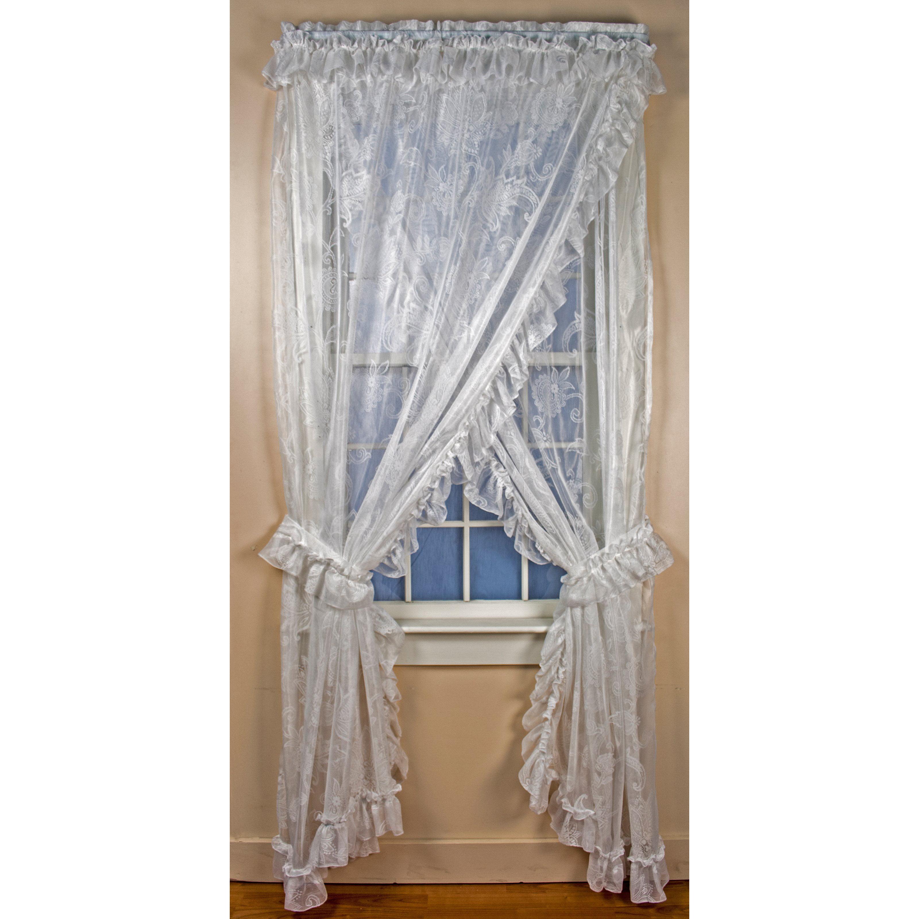 Celtic Dragon Tab Top Curtain Drape Door Panel Blue