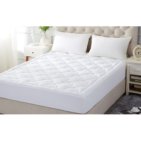 Quilted Mattress Covers - Mattress Pad Full Size, Quilted Mattress Pad Cover Stretches to 16