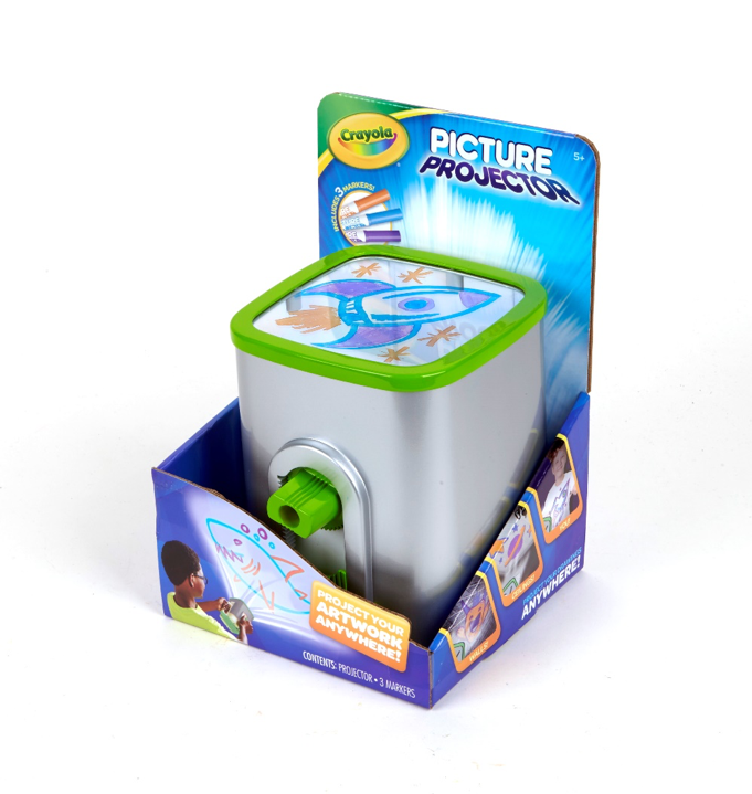 Crayola Picture Projector, Night Light Projector, Kids Flashlight, Gift, Ages 5, 6, 7, 8 by Crayola