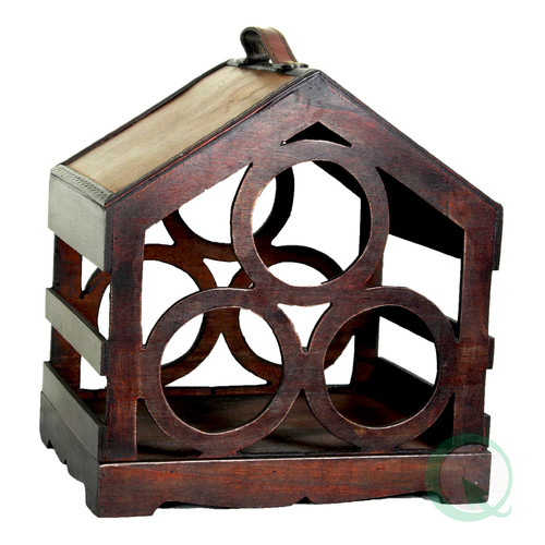 Quickway Imports Bird House 3 Bottle Tabletop Wine Rack
