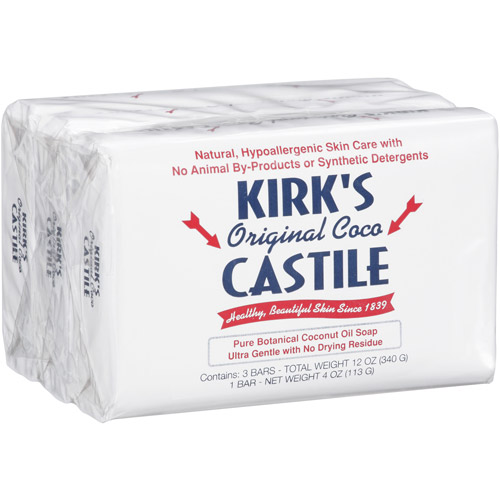 Kirk's Original Coco Castile Bar Soap, 4 oz, 3 count