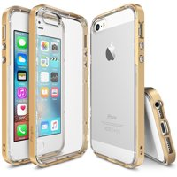 iPhone SE / 5S / 5 Case, Ringke [FRAME Series] Reinforced Dual-Layered Guard Bumper Cover [Royal Gold]