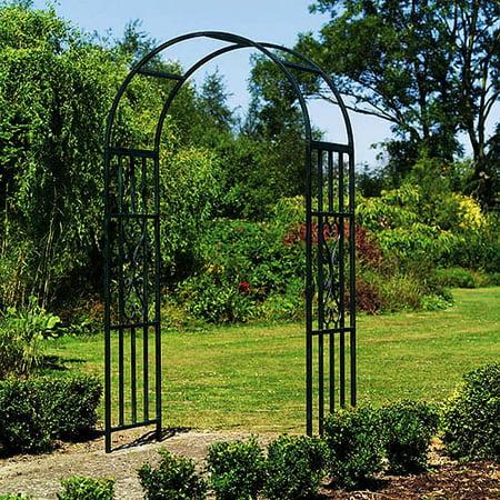 Gardman Gothic Steel Garden Arbor - Black