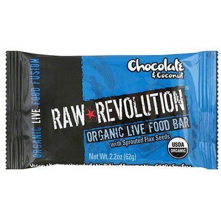 Raw Revolution Organic Live Coconut & Chocolate Food Bars, 1.8 oz (Pack of 12)
