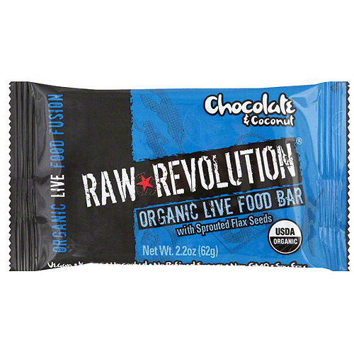 Raw Revolution Organic Live Coconut & Chocolate Food Bars, 1.8 oz (Pack of 12)