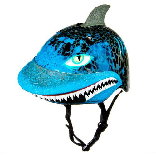 C-Preme Raskullz Boys Shark Attax Child Bike/Skate Helmet, Blue