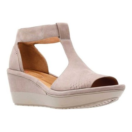 e24c73cfb Clarks - Women s Clarks Wynnmere Avah Wedge Sandal - Walmart.com