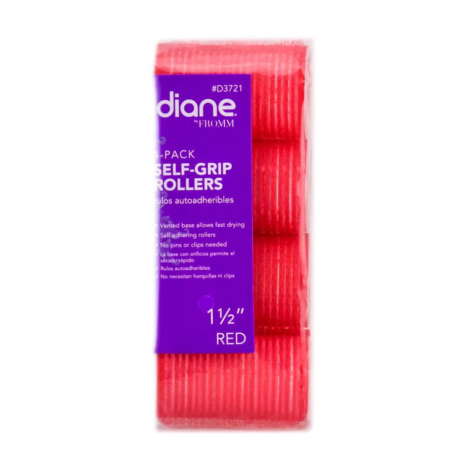 "Diane Self Grip Red Rollers - Option : 1 1/2"" - 4PK"