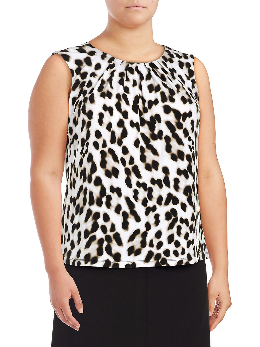 Plus Printed Sleeveless Top