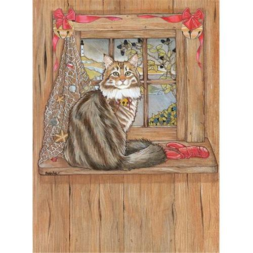 Pipsqueak Productions C987 Cat Holiday Boxed Cards