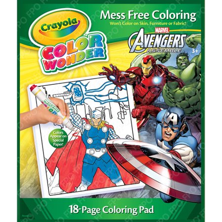 Crayola Color Wonder Avengers 18-Page Book and Markers - Walmart.com