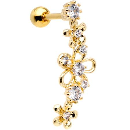 Body Candy 16G Steel Cartilage Tragus Earring Women Helix Conch Flower Power Cartilage Stud Earring (Power Stud)