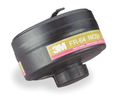 3M FR-64 Gas Mask Canister, Olive Magenta, PK 4 by 3M