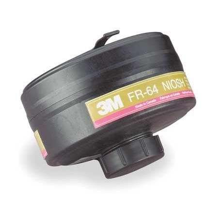 3M FR-64 Gas Mask Canister, Olive/Magenta, PK 4