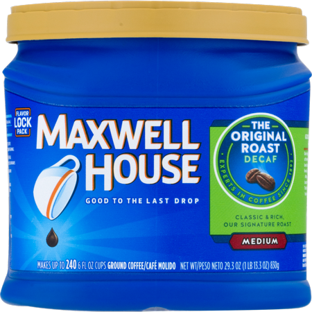 Maxwell House Roast Medium Decaf Ground Coffee The Original, 29.3 OZ