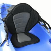 Lixada Deluxe Padded Kayak / Boat Seat Soft and Antiskid Padded Base High Backrest Adjustable Kayak Cushion with Backrest