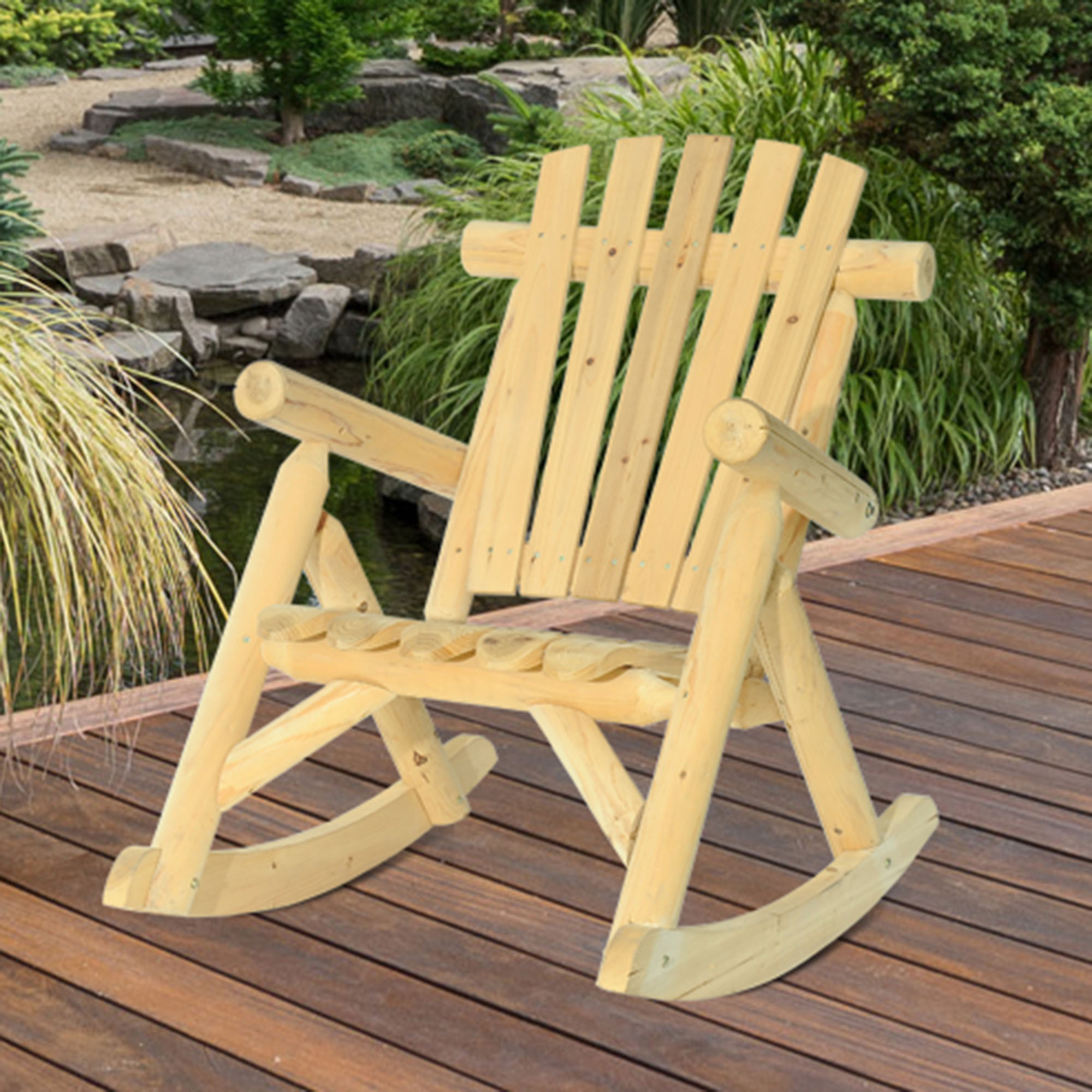 Sunjoy Church Wood Single Rocker