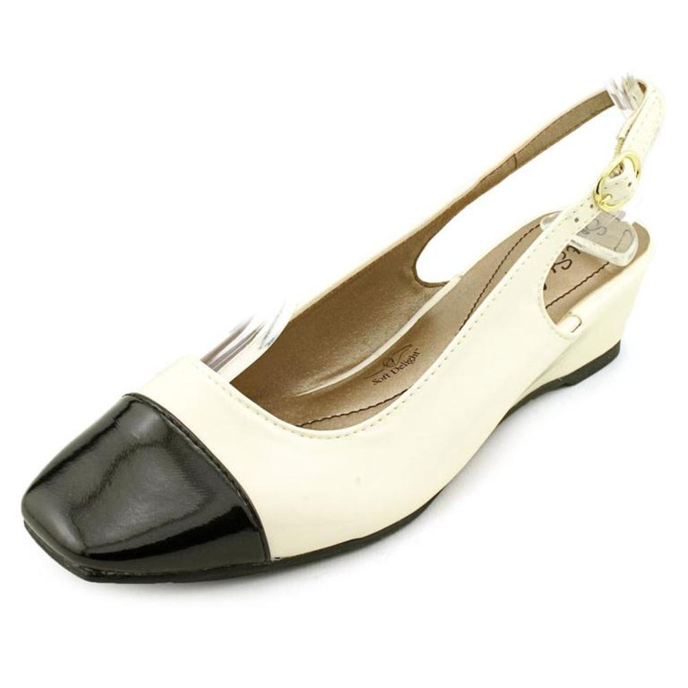 Soft Style by Hush Puppies Shirly Women WW Open Toe Synthetic White Wedge Heel