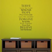 Belvedere Designs LLC Faith Family Rules Wall Quotes  Decal