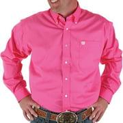 Cinch Apparel Mens  Pink Pinpoint Oxford Long Sleeve Shirt