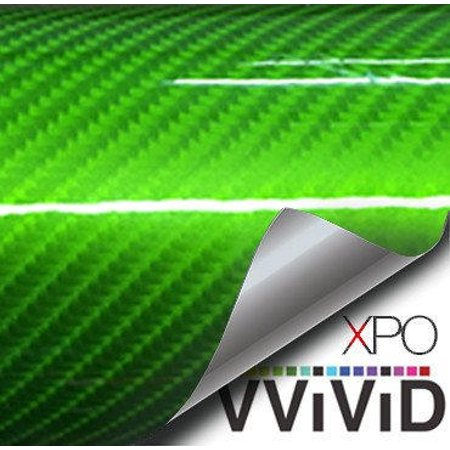 High Gloss Green Carbon Fiber Tech Art Vinyl Sticker Architectural Vinyl Roll Adhesive Tile Decor Decal Car Wrap VViViD 100% Carbon Fiber