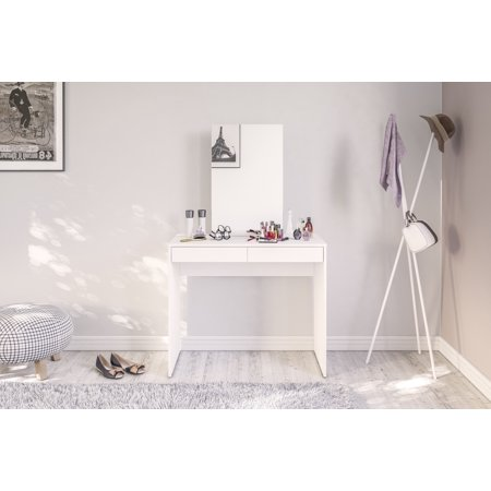 Polifurniture Conquista Vanity with Mirror, White