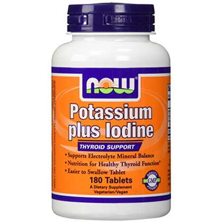 NOW Foods - POTASSIUM PLUS IODE 180 tabs