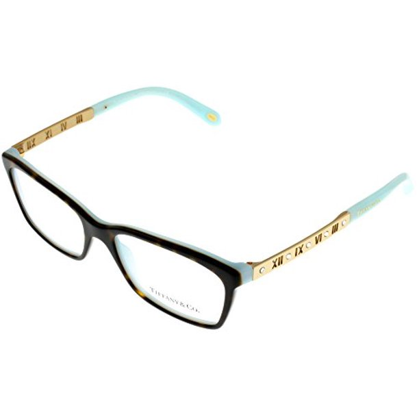 Tiffany Co Prescription Eyewear Frames Womens Havana Blue Rectangular Tf2103b 8134 Size Lens Bridge Temple 53 16 140 33 Walmart Com Walmart Com